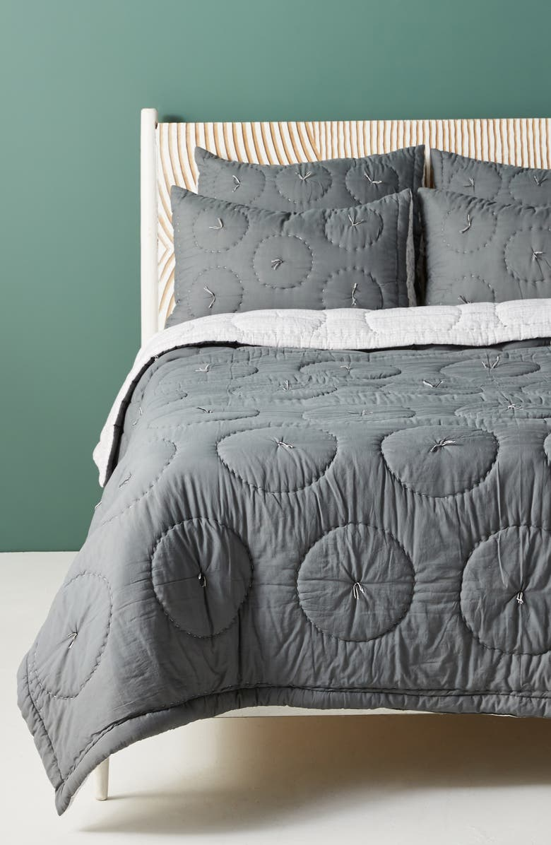 ANTHROPOLOGIE Auxterre Quilt, Main, color, GRAY