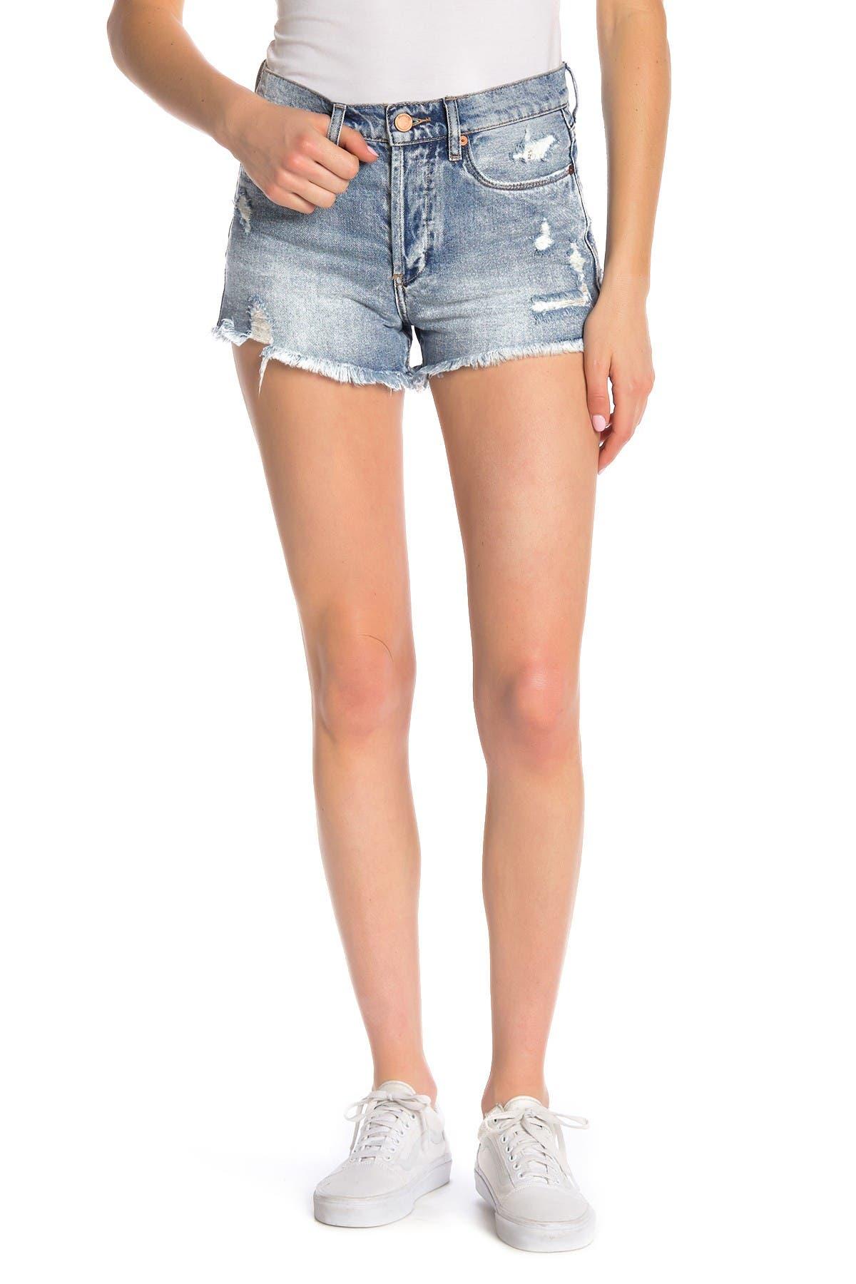 Image of BLANKNYC Denim High-Rise Distressed Denim Shorts