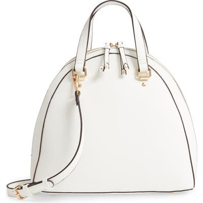 Sole Society Dwani Faux Leather Satchel - White