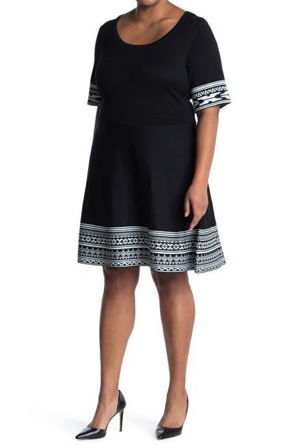 Image of Nina Leonard Ribbed Sweater Dress