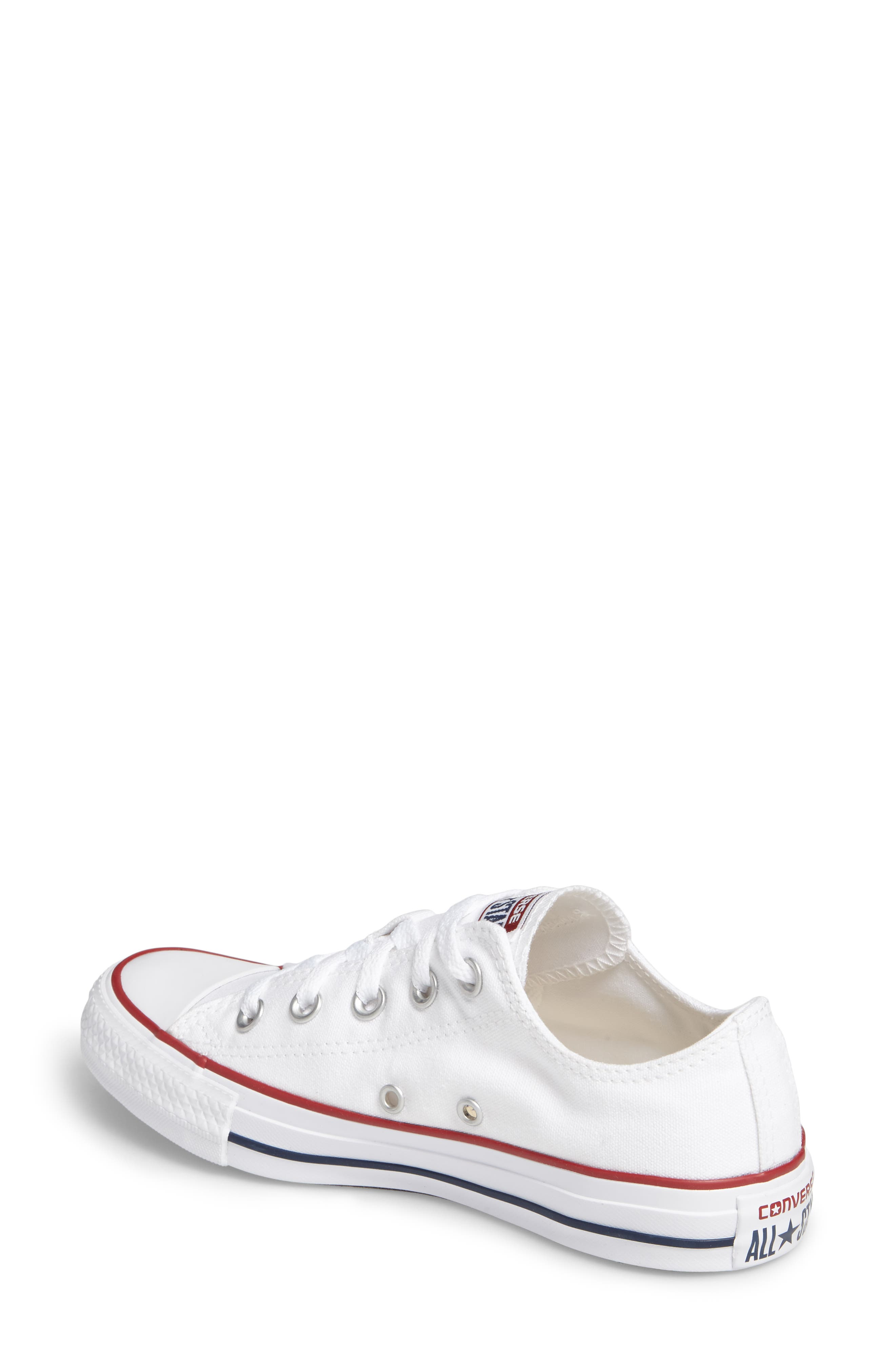 ,                             Chuck Taylor<sup>®</sup> Low Top Sneaker,                             Alternate thumbnail 3, color,                             OPTIC WHITE