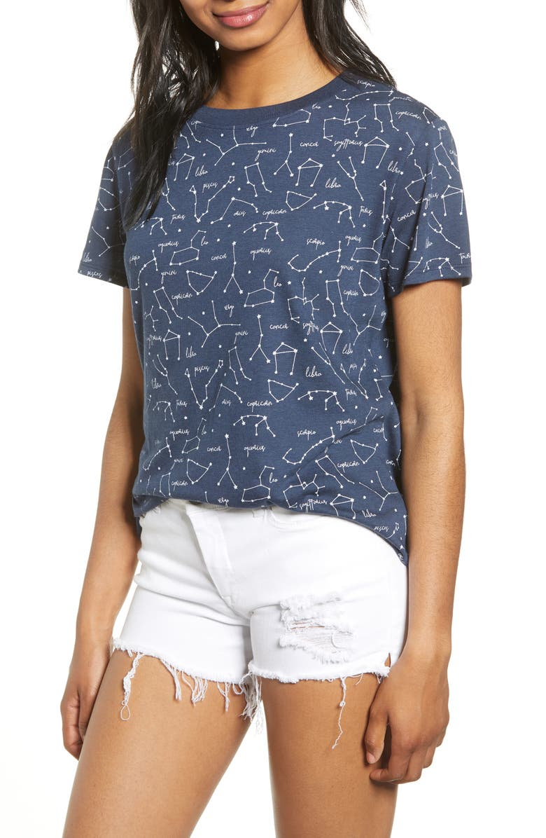 SUB_URBAN RIOT Constellation Print Tee, Main, color, NAVY
