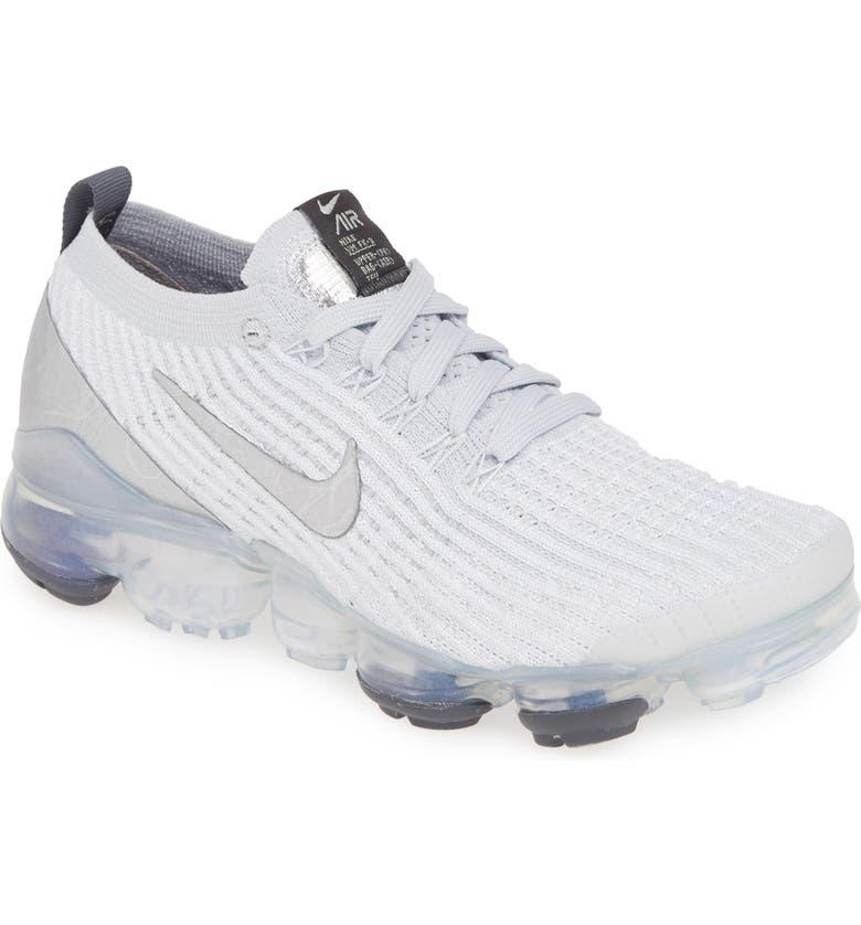 buy online cc19b 32595 Air VaporMax Flyknit 3 Sneaker, Main, color, WHITE  METALLIC SILVER