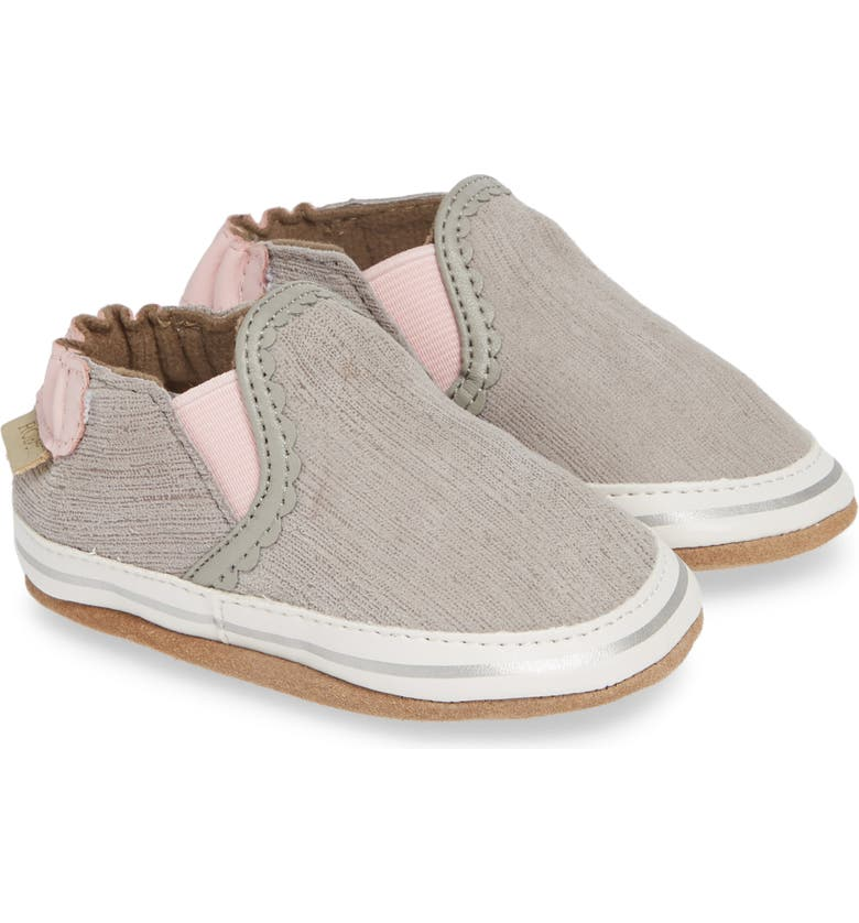 ROBEEZ<SUP>®</SUP> Pop of Pink Liam Crib Shoe, Main, color, 020