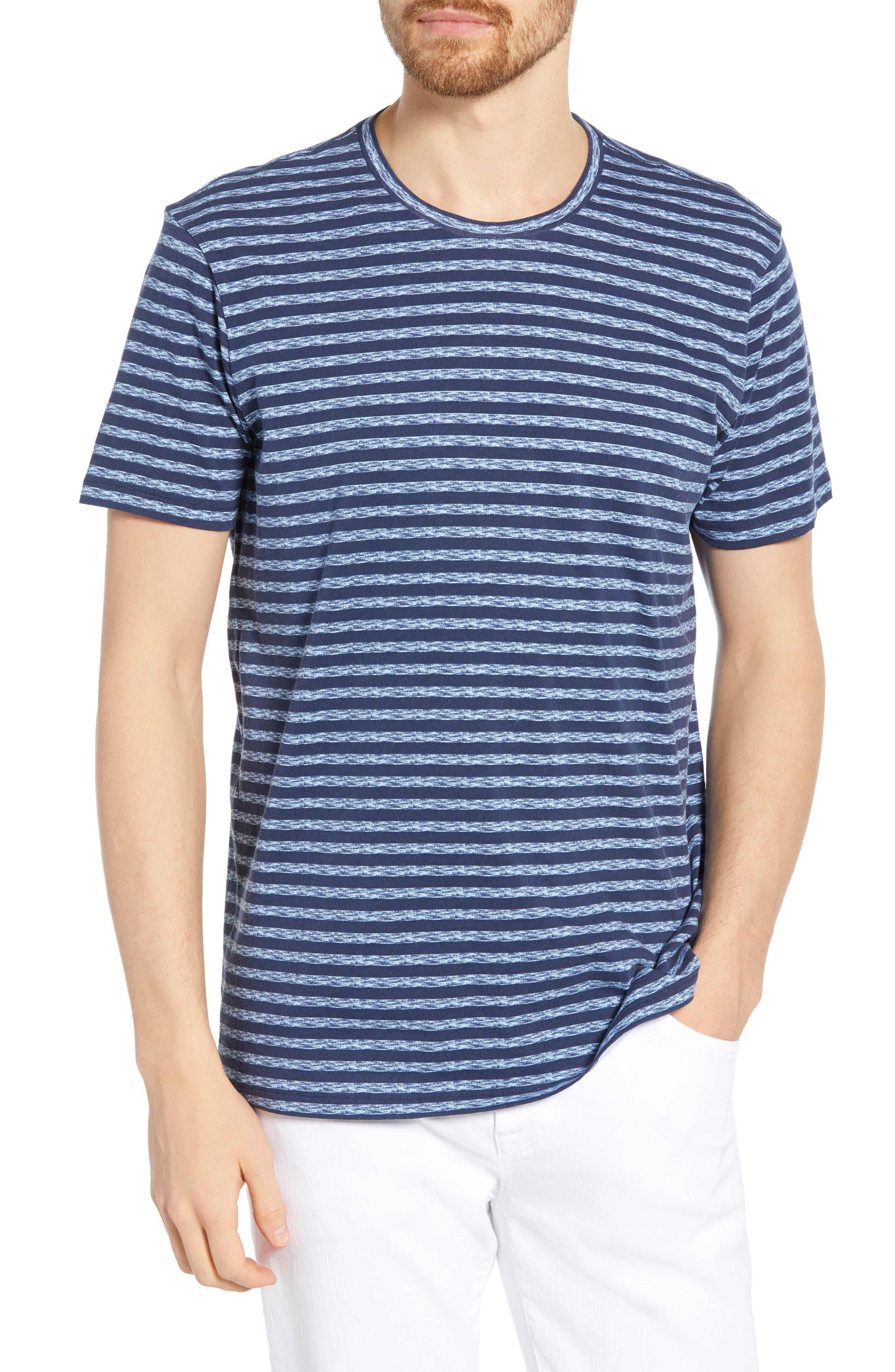 Bonobos Quay Stripe T-Shirt, Blue