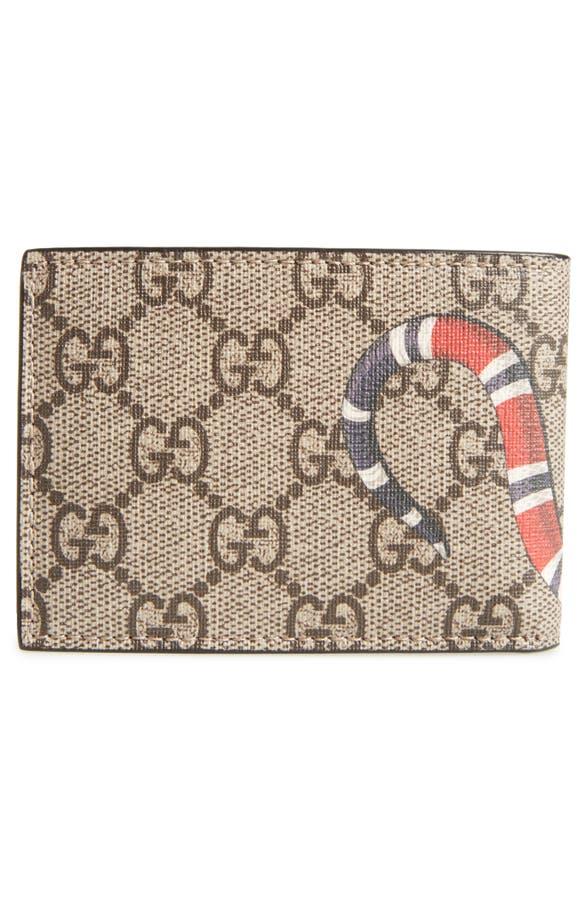 544403ed7 Gucci Snake Print Supreme Bifold Wallet   Nordstrom
