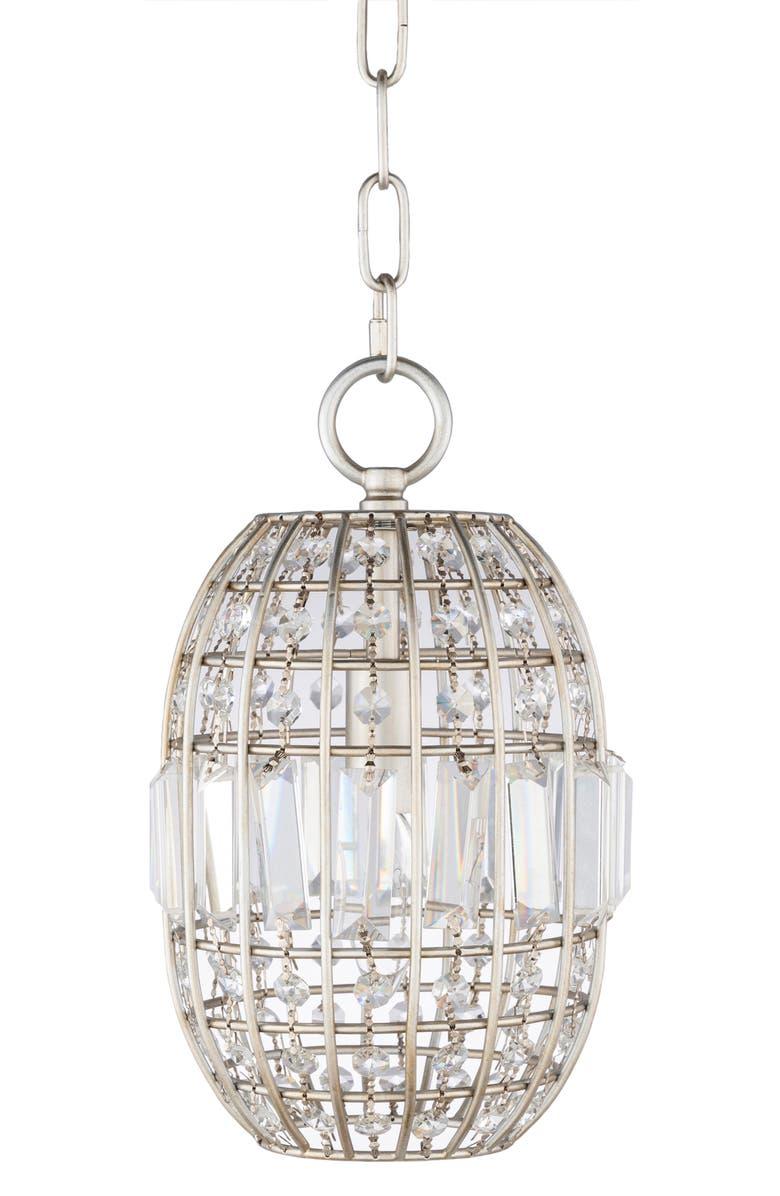 SURYA HOME Paulina Pendant Lamp, Main, color, SILVER