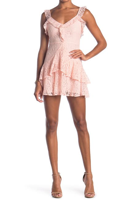 Image of Lush Ruffle Mini Dress
