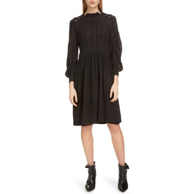 Isabel Marant Etoile Odea Pintuck Dress, US / 40 FR - Black