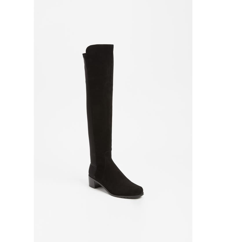 STUART WEITZMAN 'Reserve' Over the Knee Boot, Main, color, BLACK SUEDE