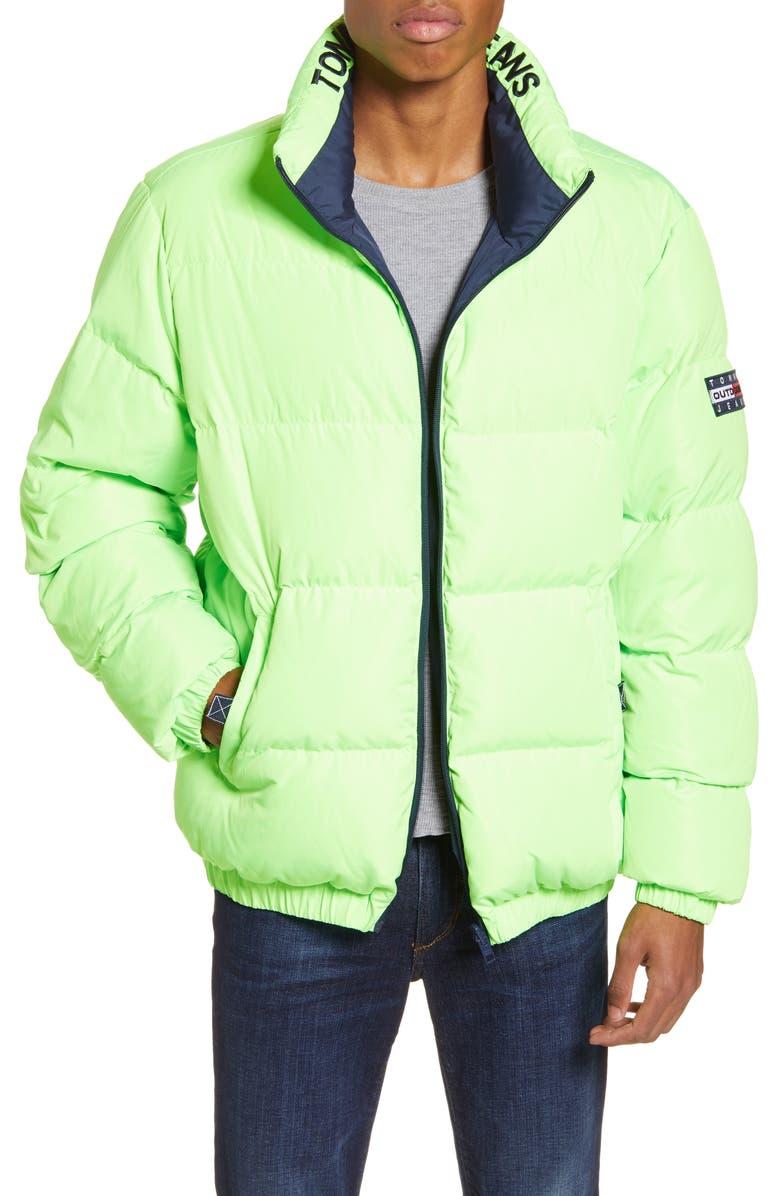 TOMMY JEANS TJM Reversible Puffer Jacket, Main, color, 001