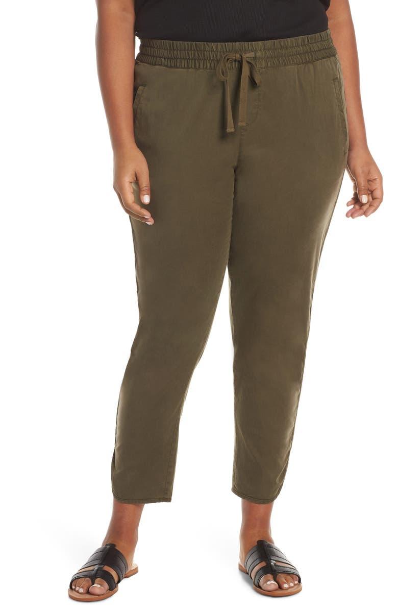 CASLON<SUP>®</SUP> Caslon Sandwash Pull-On Pants, Main, color, OLIVE