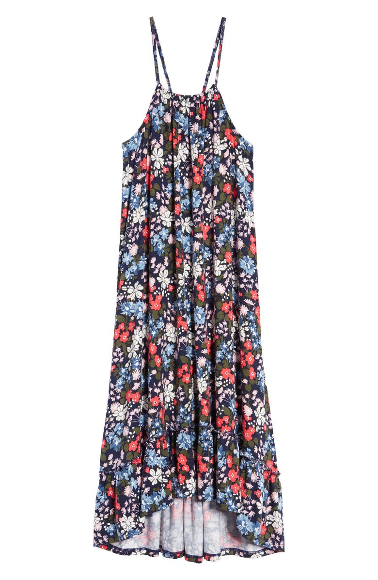 TUCKER + TATE Halter Sundress, Main, color, NAVY PEACOAT DANDY FLORAL