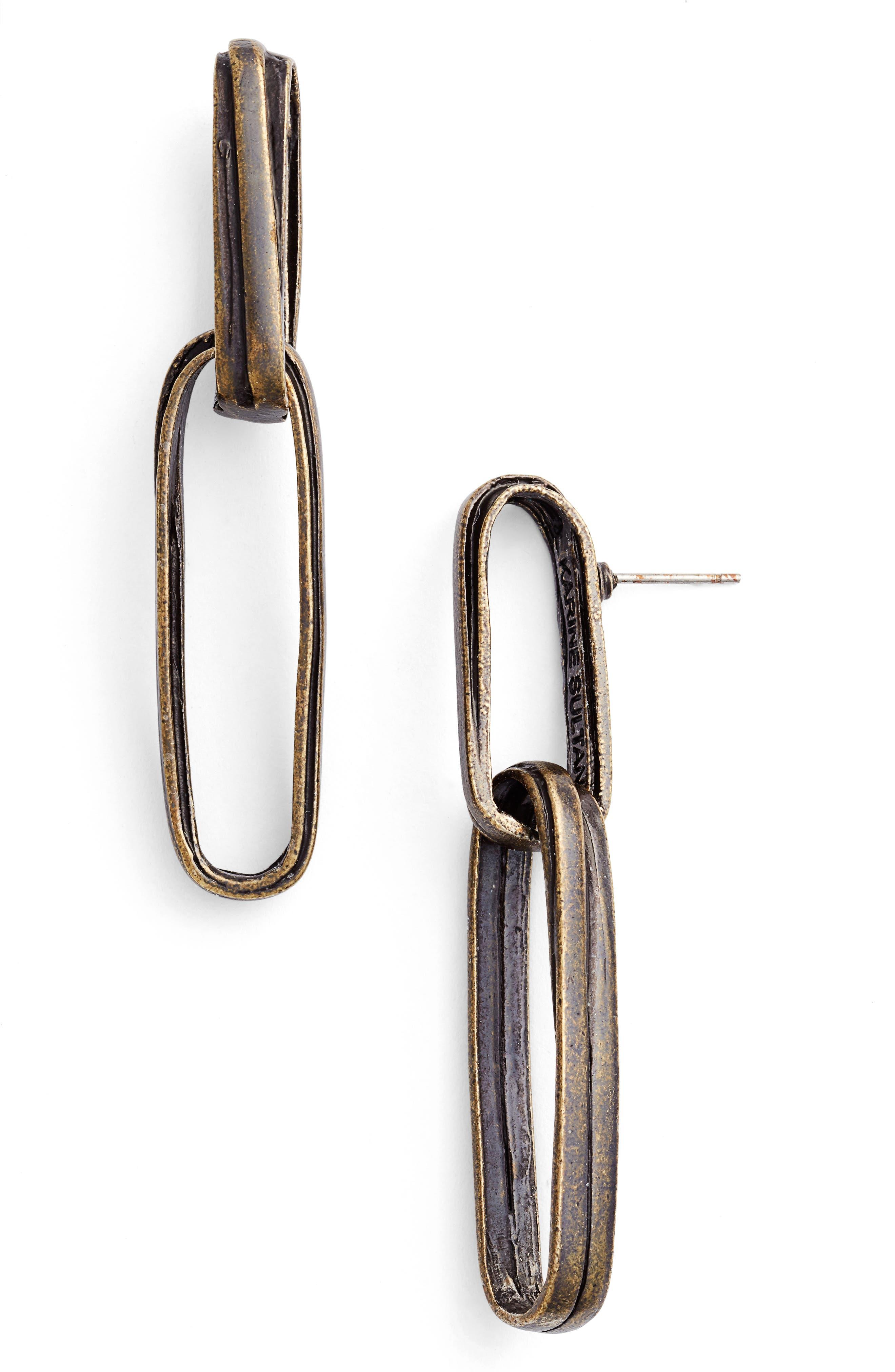 Angelique Link Drop Earrings