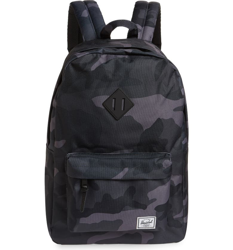 HERSCHEL SUPPLY CO. Heritage Print Backpack, Main, color, NIGHT CAMO