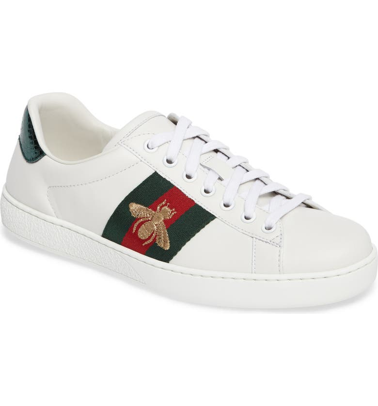 GUCCI New Ace Sneaker, Main, color, BIANCO MULTI LEATHER