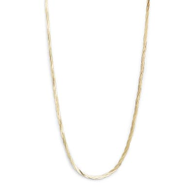 Loren Stewart Braided Demi Herringbone Chain Necklace