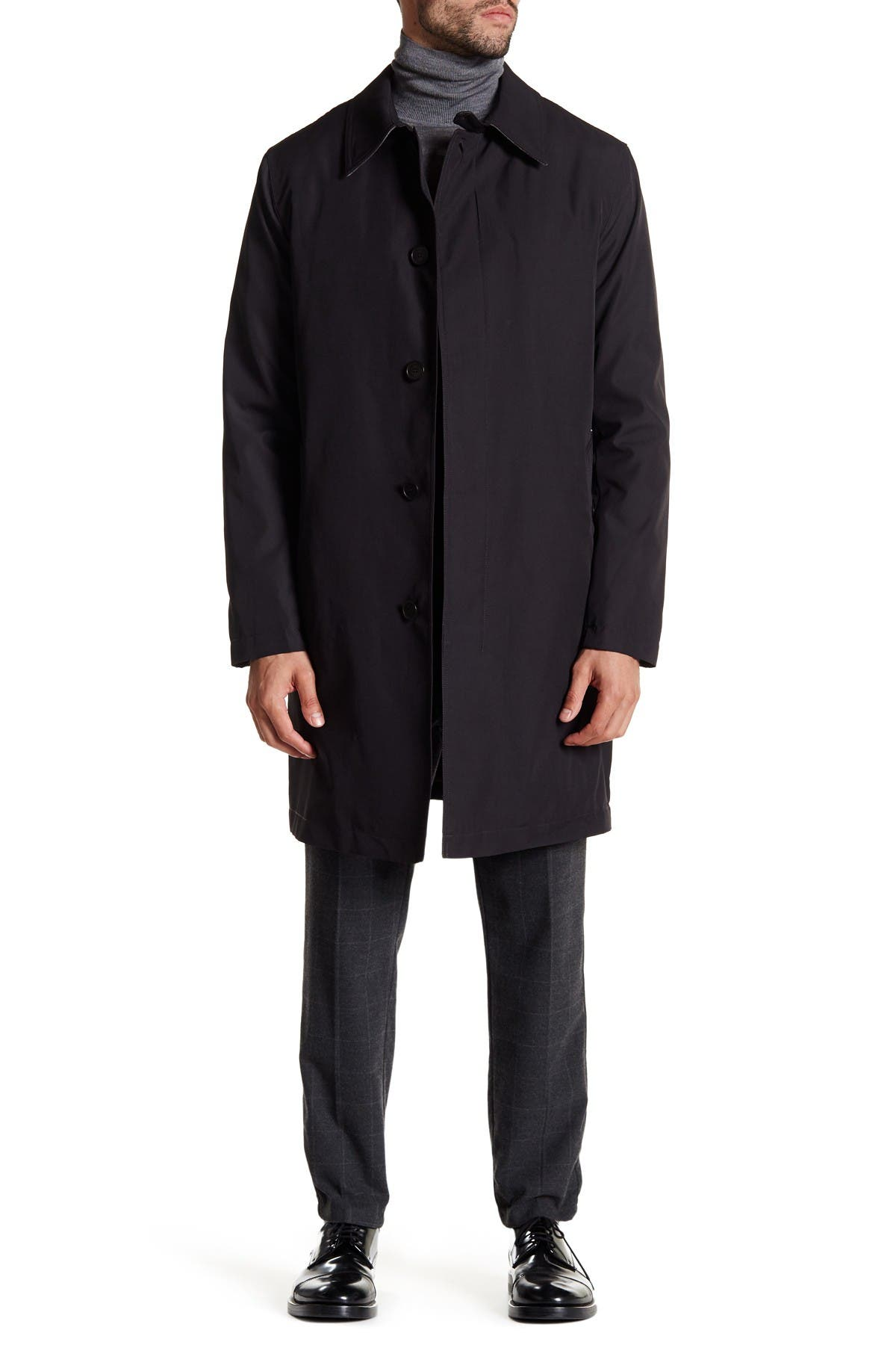 Image of Cole Haan Solid Trench Rain Coat