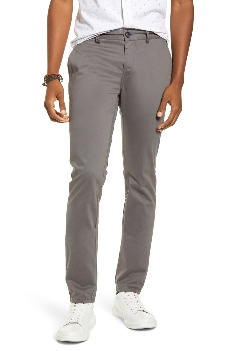 BP. x Alex Costa Skinny Chino Pants, Main, color, GREY CASTLEROCK