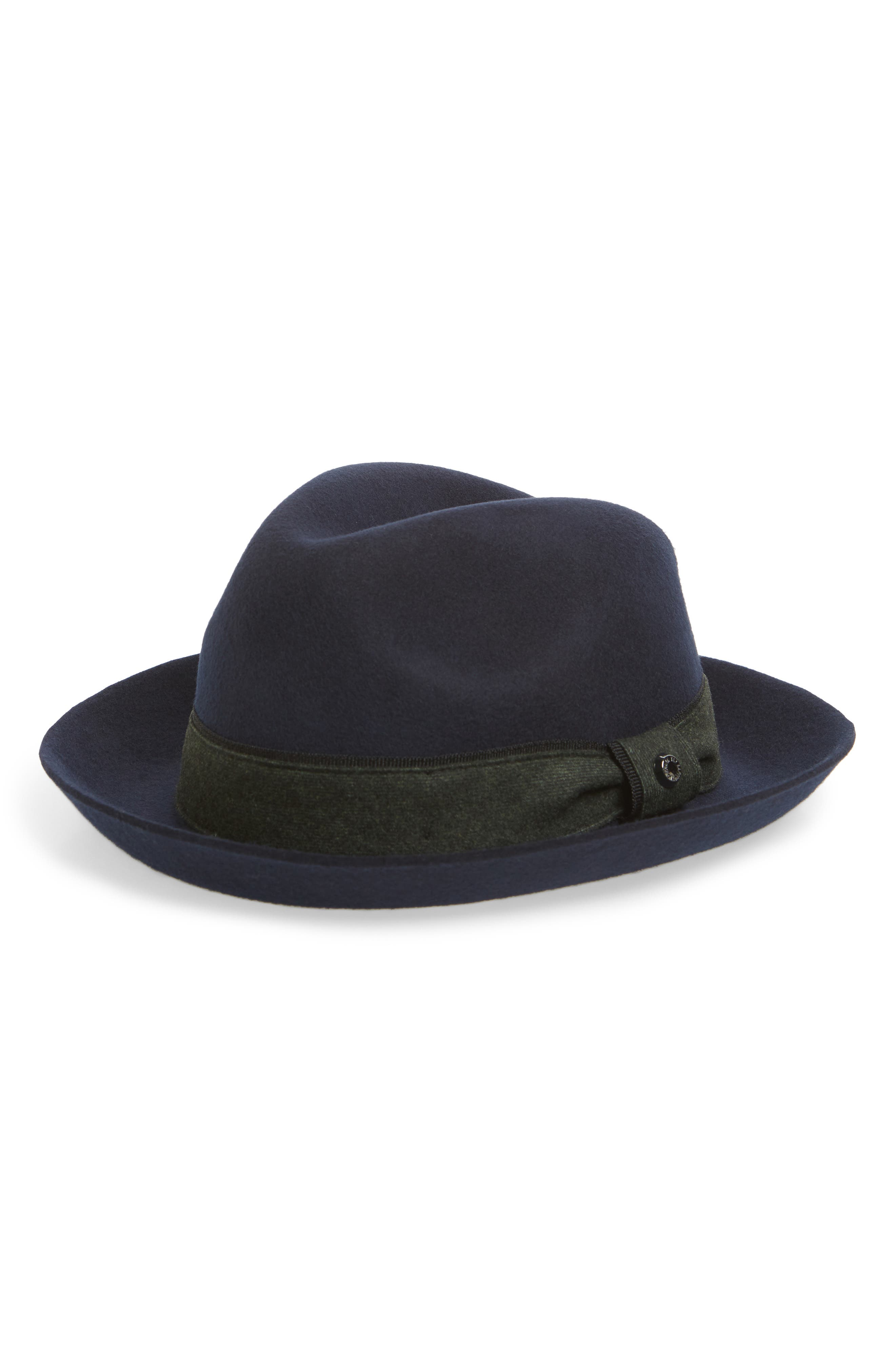 Ted Baker London Felt Fedora, Blue