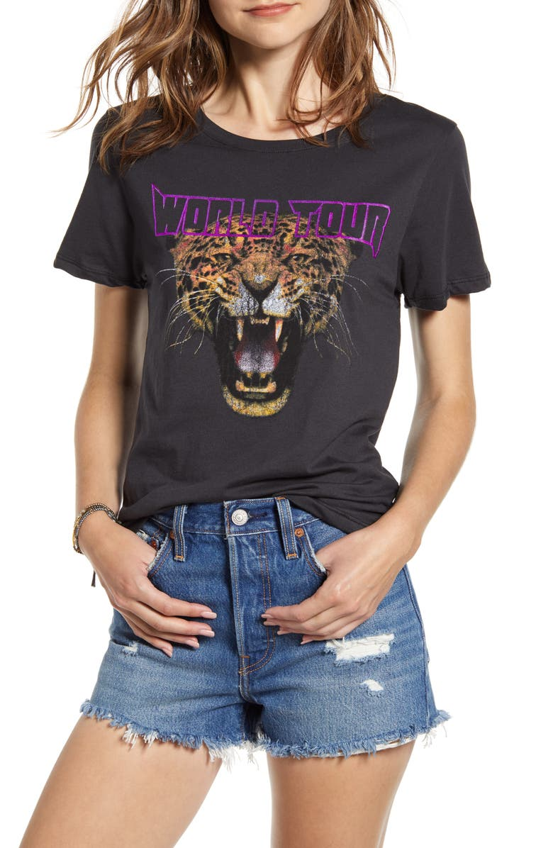 PRINCE PETER Cheetah Graphic Tee, Main, color, BLACK