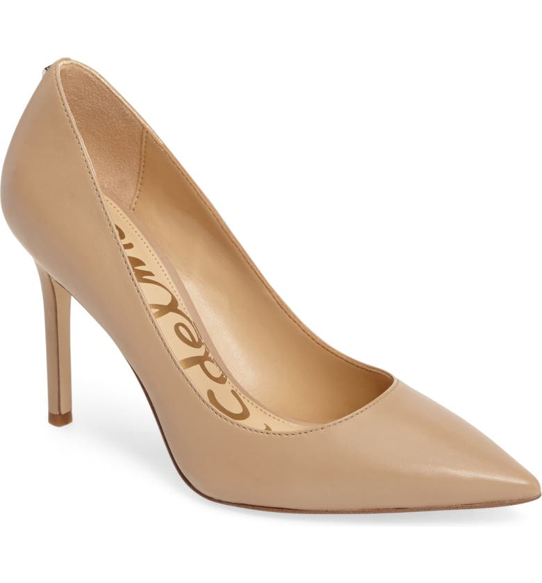 SAM EDELMAN Hazel Pointed Toe Pump, Main, color, NUDE LEATHER