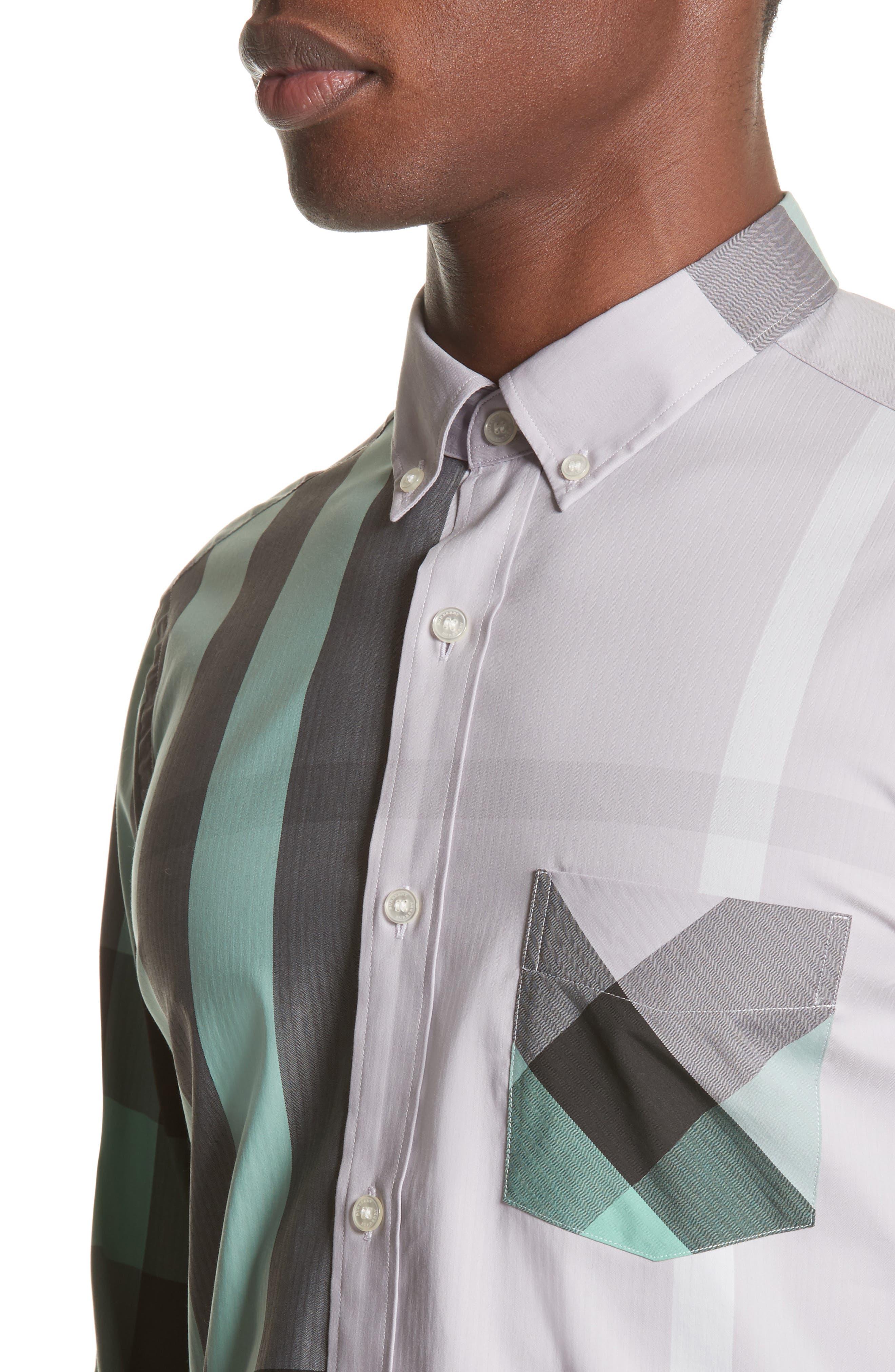 ,                             Thornaby Slim Fit Plaid Sport Shirt,                             Alternate thumbnail 40, color,                             510