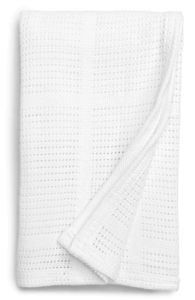 LULUJO Cellular Baby Blanket, Main, color, WHITE