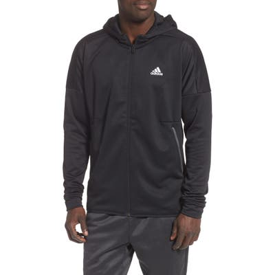 Adidas Hooded Track Jacket, Black
