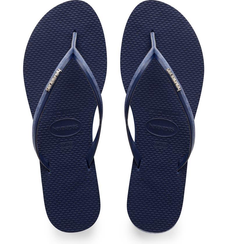 HAVAIANAS You Jeans Flip Flop, Main, color, NAVY BLUE