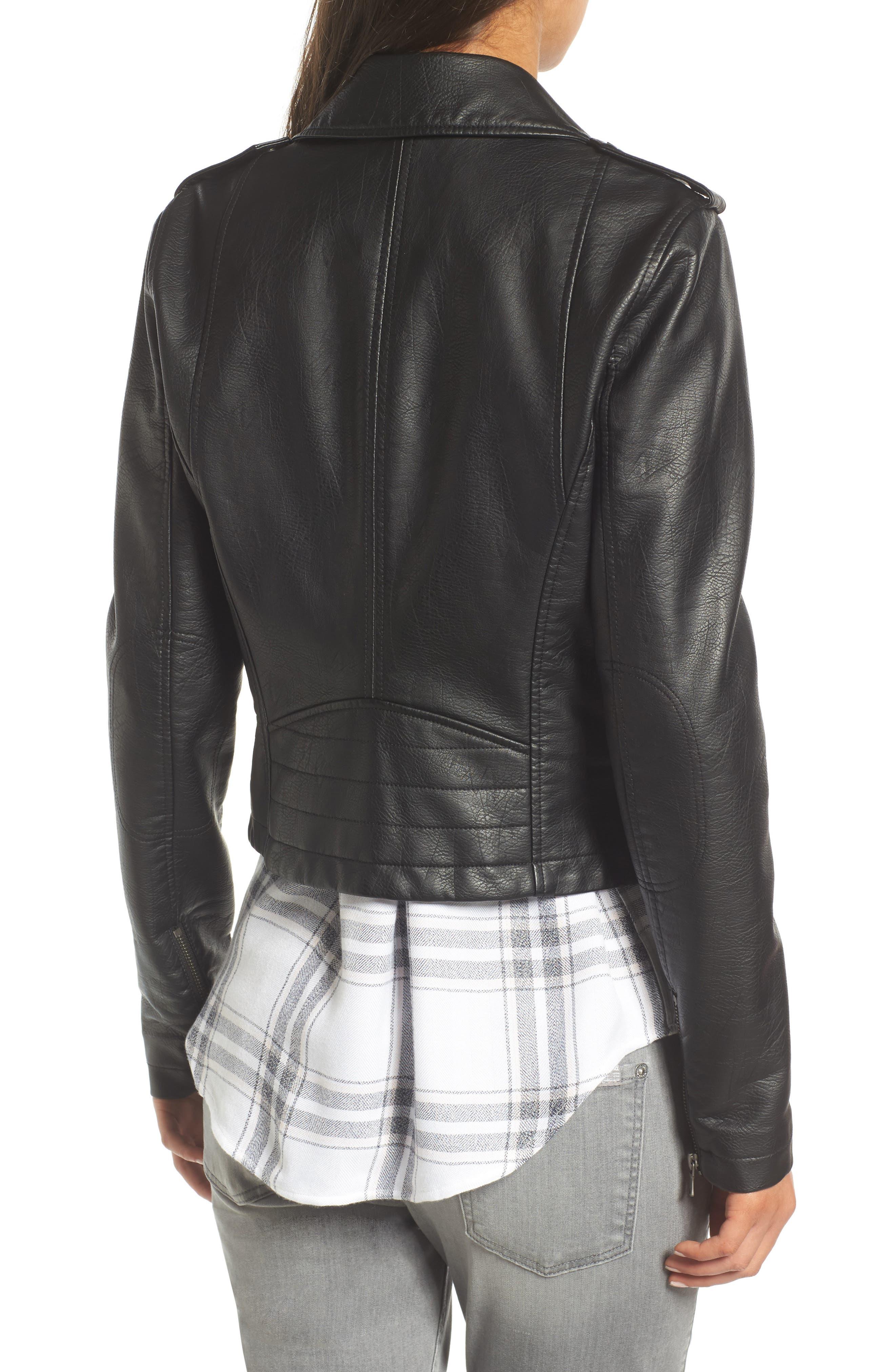 ,                             Faux Leather Moto Jacket,                             Alternate thumbnail 21, color,                             001