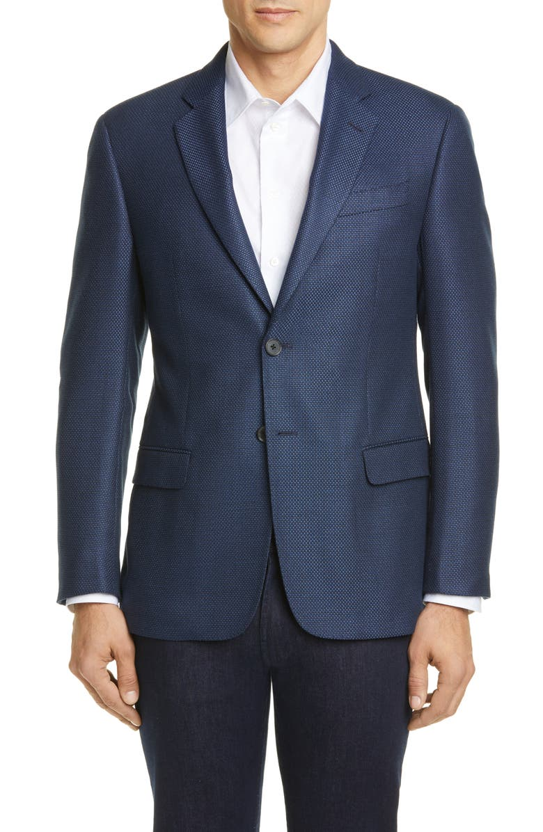 EMPORIO ARMANI Trim Fit Stretch Sport Coat, Main, color, 400