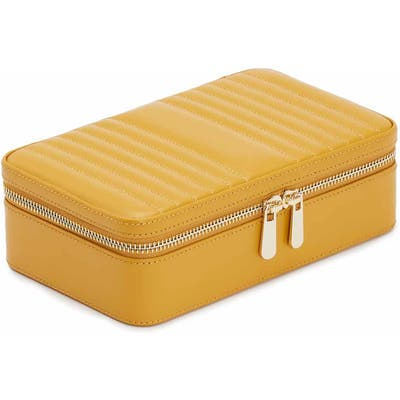 Wolf Maria Zip Rectangle Jewelry Case - Yellow