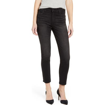 Kut From The Kloth Meghan High Waist Ankle Cigarette Jeans, Black