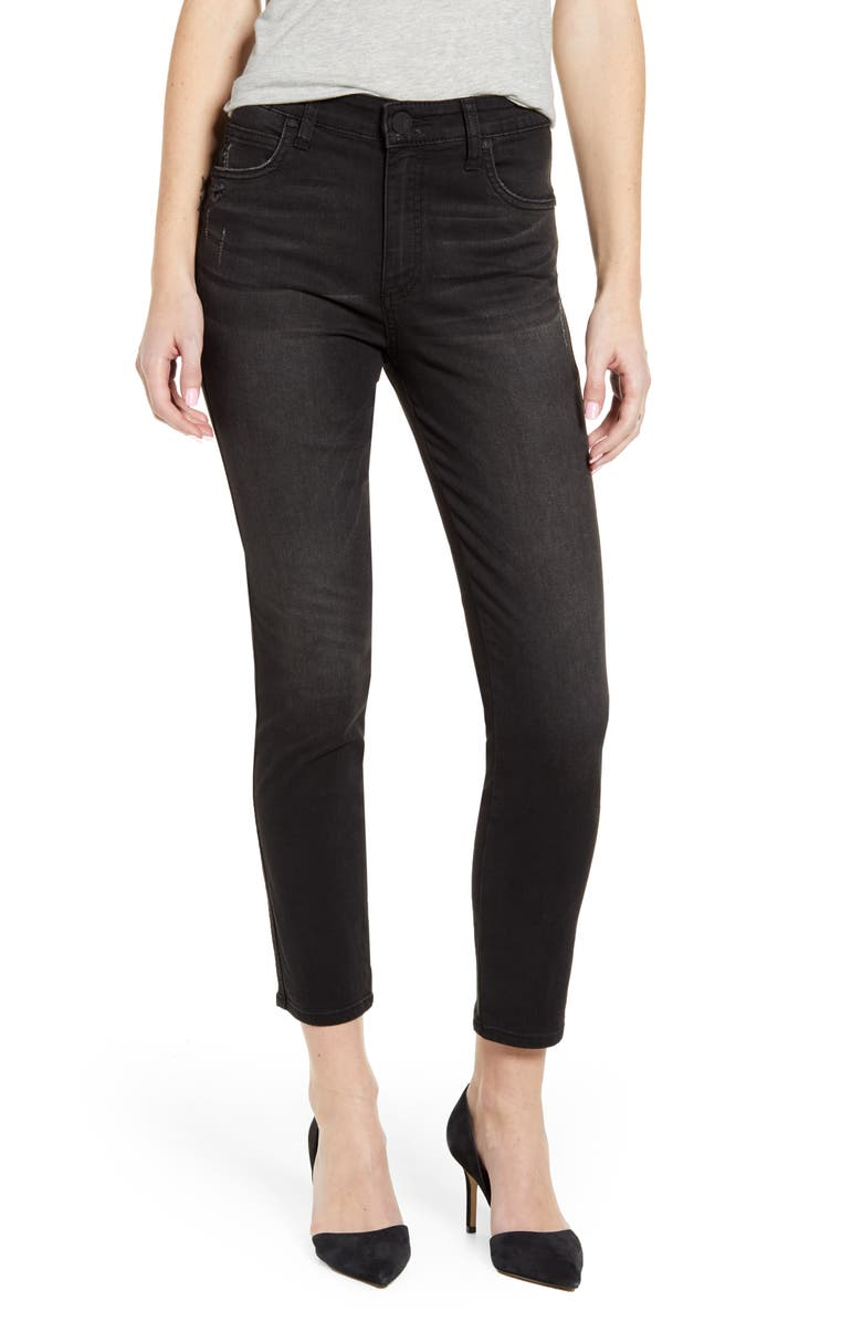 KUT FROM THE KLOTH Meghan High Waist Ankle Cigarette Jeans, Main, color, GRATEFULLY
