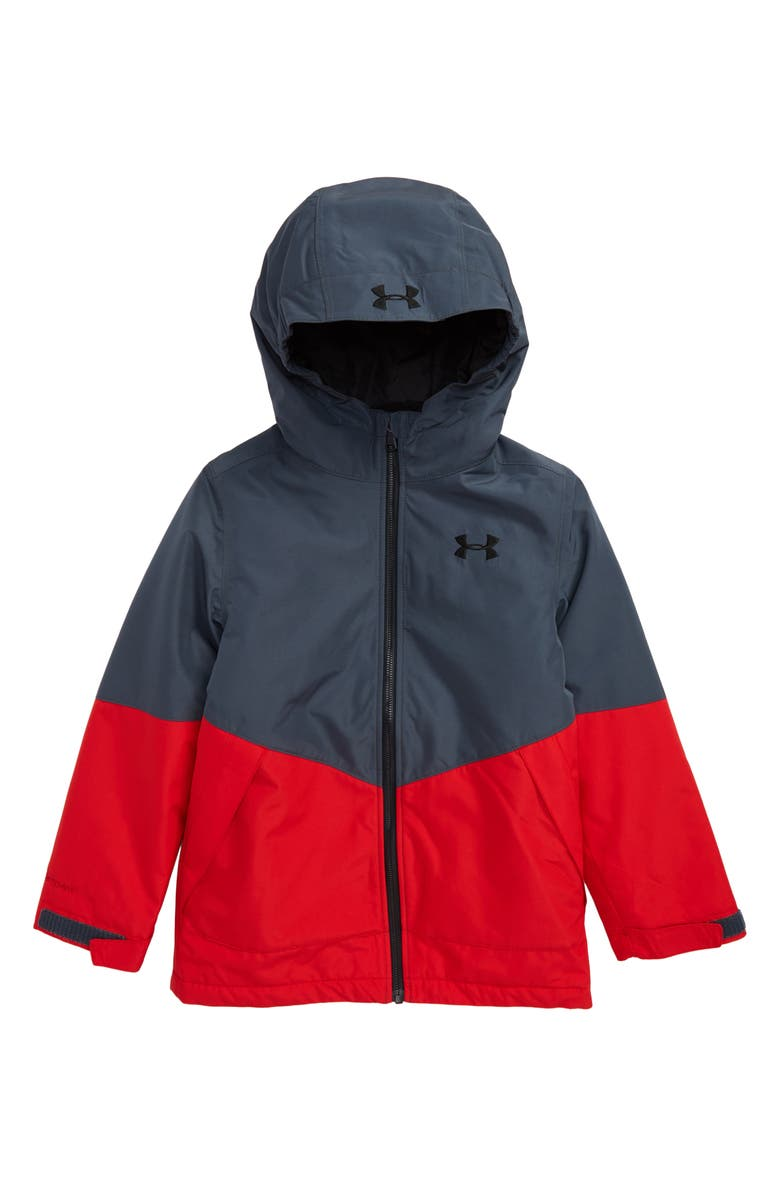 UNDER ARMOUR Westward 3-in-1 Windproof & Waterproof Hooded Jacket, Main, color, WIRE