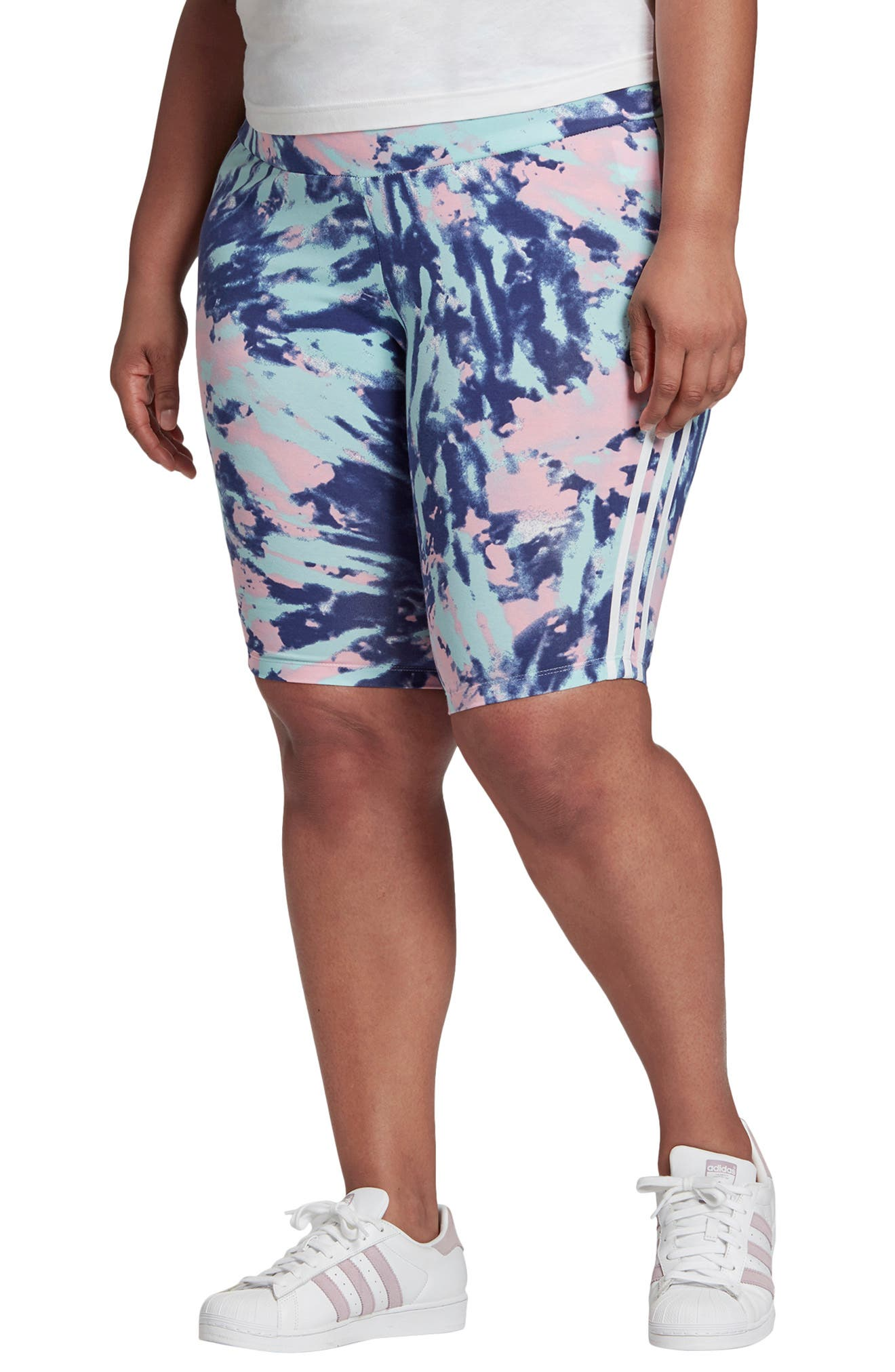 Plus Women's Adidas Originals Adicolor Tie Dye Bike Shorts