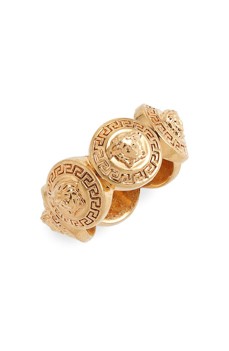 VERSACE Medusa Tribute Ring, Main, color, TRIBUTE GOLD