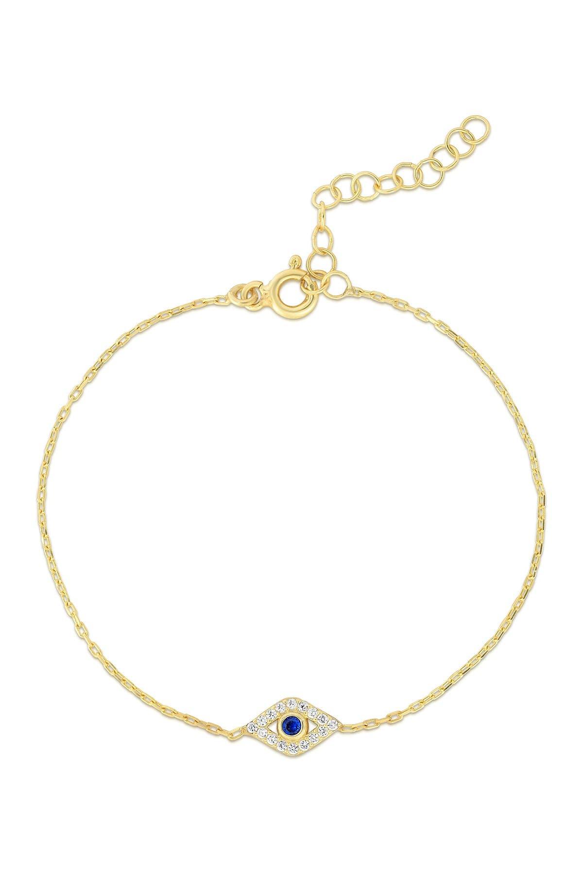 Image of Sphera Milano 14K Gold Plated Sterling Silver Evil Eye Bracelet