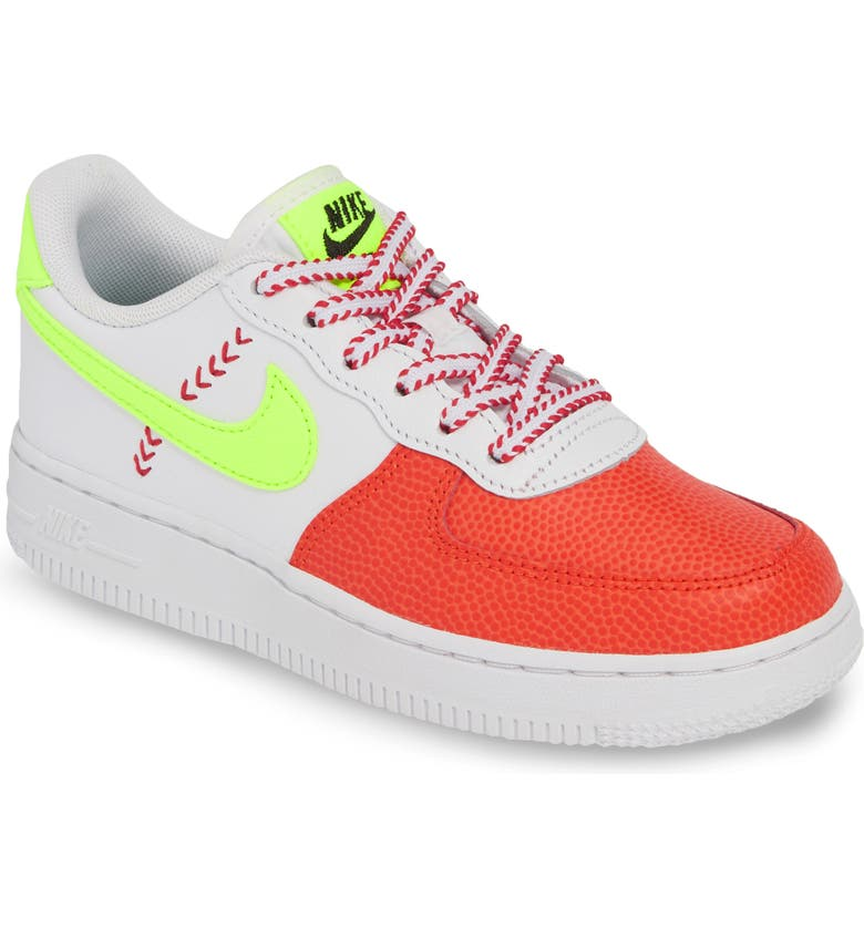 NIKE Air Force 1 Ball Sneaker, Main, color, WHITE