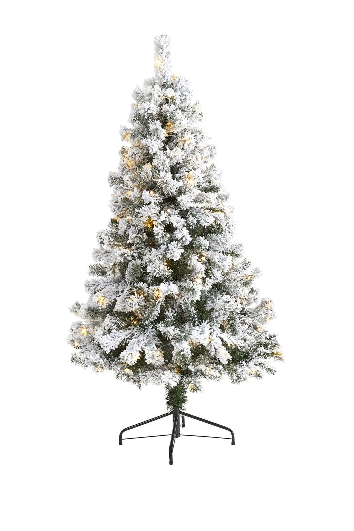 Image of NEARLY NATURAL 5ft. Flocked West Virginia Fir Artificial Christmas Tree