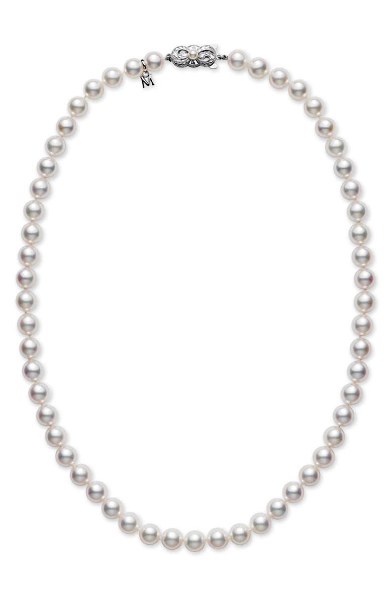 MIKIMOTO Pearl Necklace, Main, color, 101