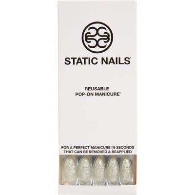 Static Nails Lace Me Pop-On Reusable Manicure Set - Lace Me Up