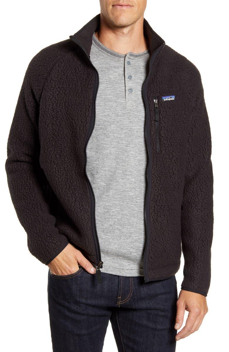 PATAGONIA Retro Pile Fleece Jacket, Main, color, BLACK