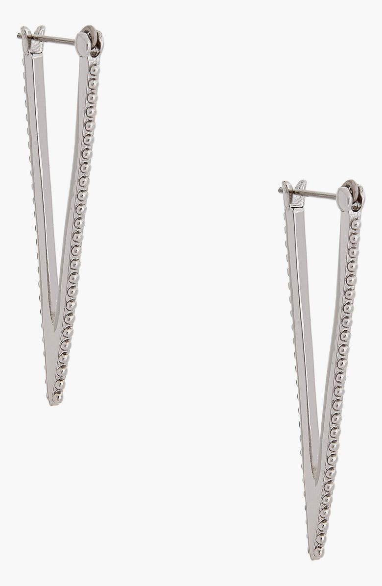 REBECCA MINKOFF Texture V Drop Earrings, Main, color, 040