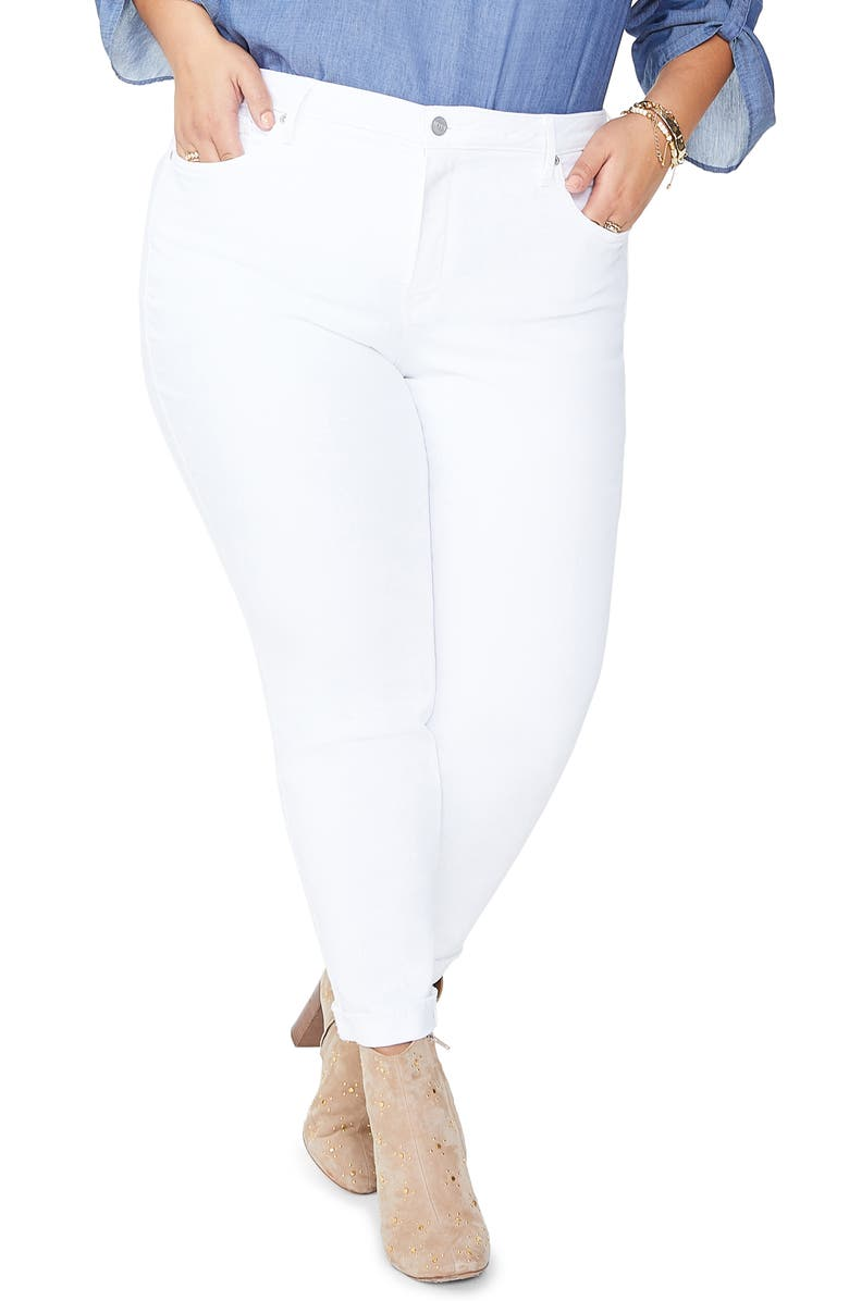 NYDJ Ami High Waist Ankle Skinny Jeans, Main, color, OPTIC WHITE