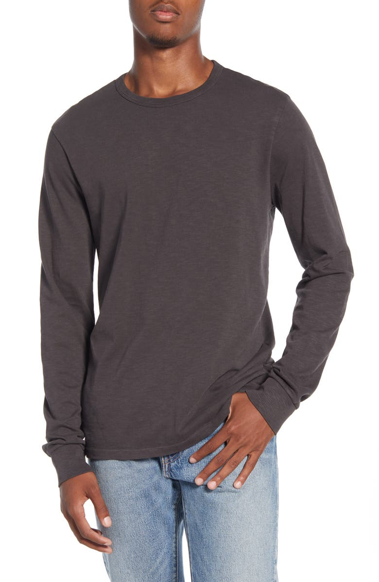MADEWELL Allday Garment-Dyed Crewneck T-Shirt, Main, color, BLACK COAL