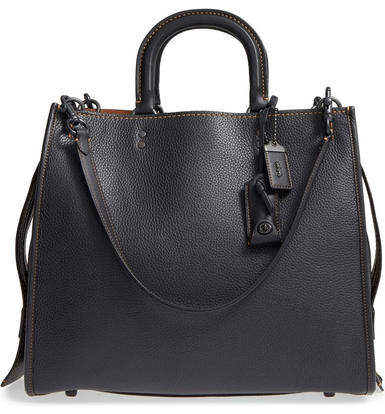 COACH 1941 'Rogue 36' Leather Satchel, Main, color, 001