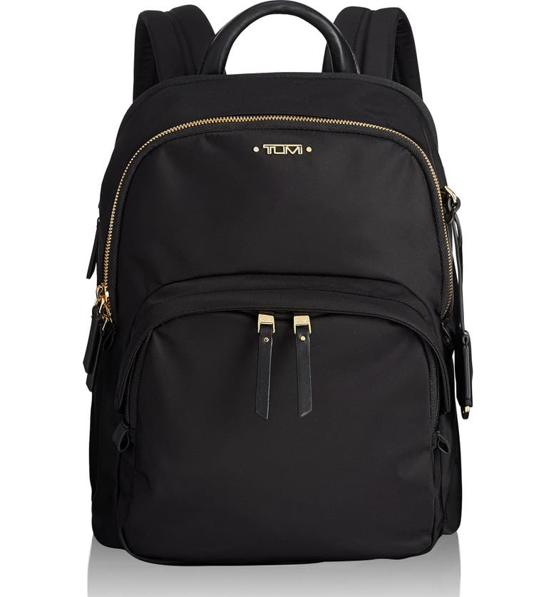 TUMI Voyageur Dori Nylon Backpack, Main, color, BLACK
