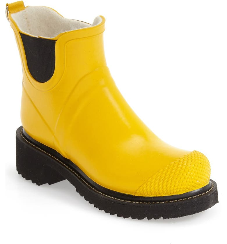 ILSE JACOBSEN 'RUB 47' Short Waterproof Rain Boot, Main, color, CYBER YELLOW